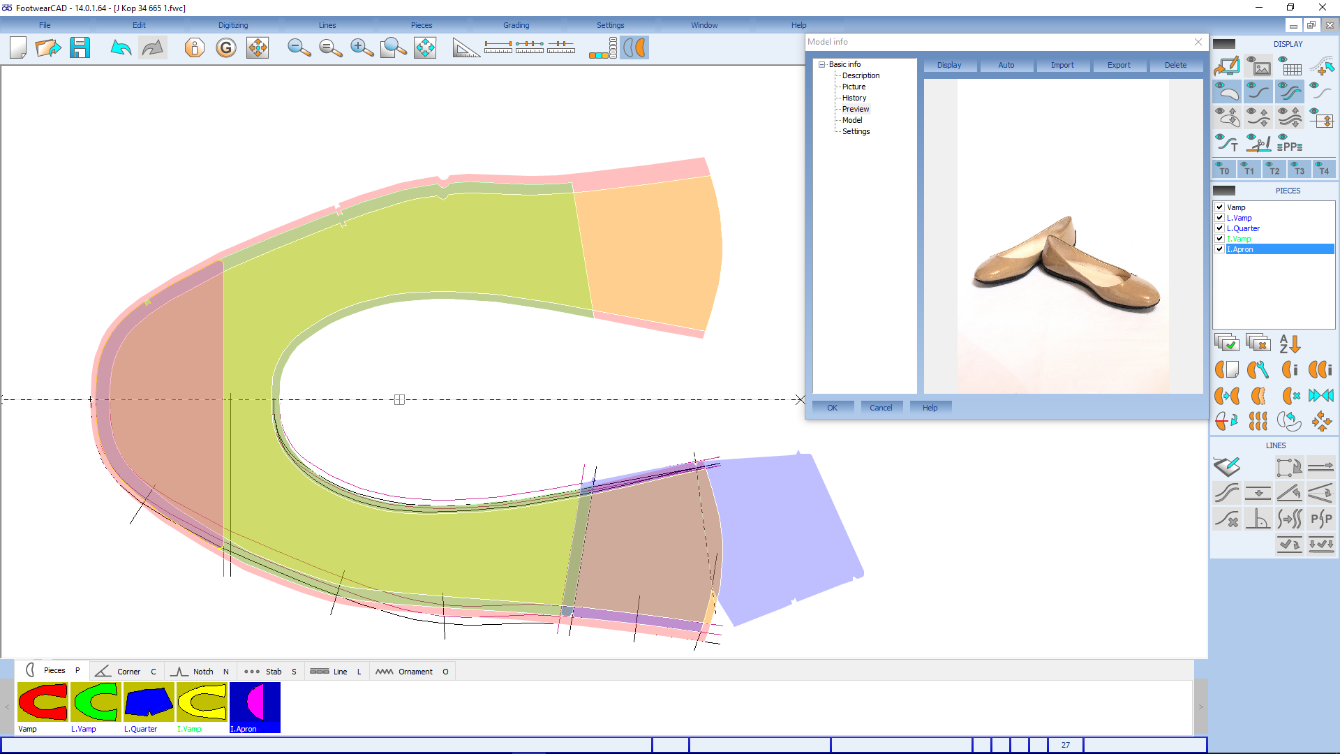 Pattern design software - CAD 2D construction systems